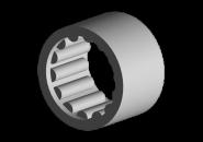 Підшипник голчастий вторинного вала задній (метал) A15 015301373AA. Артикул: