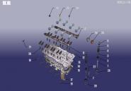 Головка блоку циліндрів. Артикул: 1.8FDJ-GG