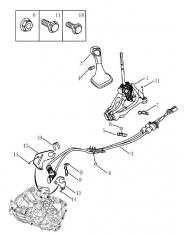 Механизм переключения передач. Артикул: 3-11-ec7
