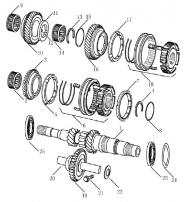 Вал КПП первичный (входной). Артикул: 3-6-ec7