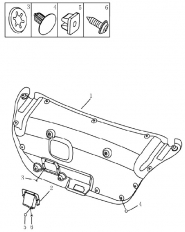 Обшивка кришки багажника (седан). Артикул: 9-17-ec7-fe1