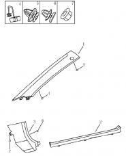 Облицювання передніх стійок салону. Артикул: 9-18-ec7