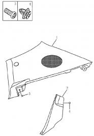 Облицювання задніх стійок салону (хетчбек). Артикул: 9-20-ec7-fe2
