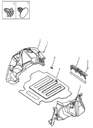 Обшивка багажника (седан). Артикул: 9-22-ec7-fe1