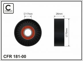 Ролик ремня генератора на натяжитель (металл) CAFFARO. Артикул: a11-8111220