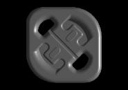 Подушка кріплення глушника (ромб) (оригінал) A15. Артикул: A11-1200019BA