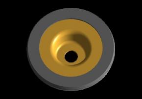 Шайба переднего амортизатора верхняя (обрезиненная) A15. Артикул: A11-2901060