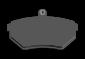 Колодки гальмівні передні з вушком Chery Amulet. Артикул: A11-3501080