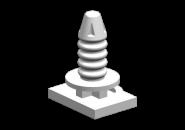 Фиксатор порога (белые) A15. Артикул: A11-5101035