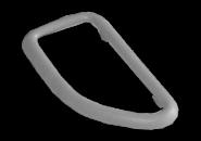Облицовка ручки двери внутренней левой (серая). Артикул: a11-6105147al