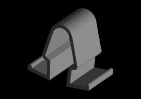 Кліпса утеплювача капота Chery Amulet. Артикул: A11-8402015