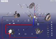 Трубопровод тормозной системы. Артикул: A18ZDXT-ZDGL