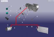 Трубопровод системы кондиционирования. Артикул: B11KTXT-KTGL