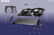 Радиатор в сборе. Артикул: LQXT-SRQZC-480E