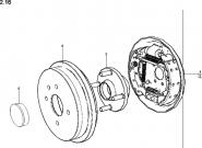 Гальма барабанні задніх коліс. Артикул: a13-2-16