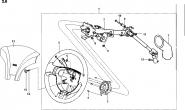 Рулевая колонка, рулевое колесо, модуль подушки безопасности водителя. Артикул: a13-2-8
