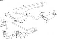 Система выпуска отработавших газов (вариант 1). Артикул: a13-3-11