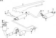 Система выпуска отработавших газов (вариант 2). Артикул: a13-3-12
