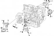 Подвеска двигателя. Артикул: a13-3-2