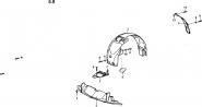Накладки и изоляция крыла, крышка люка над бензобаком. Артикул: a13-5-10