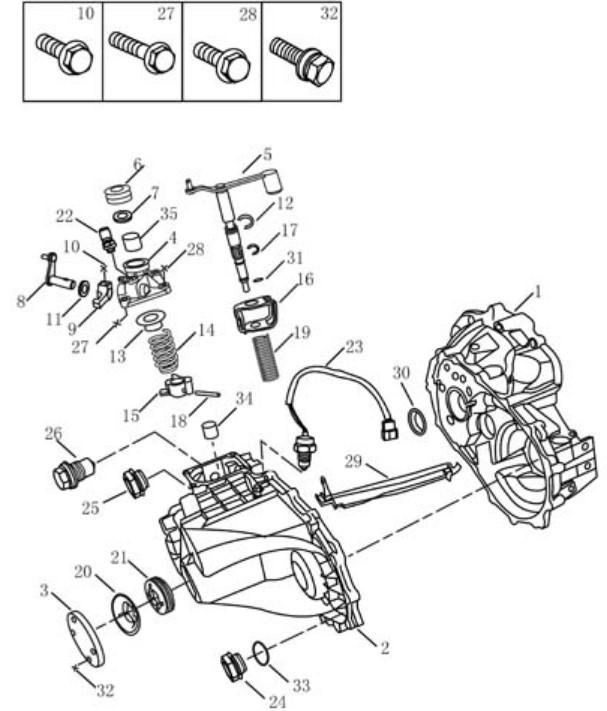 Корпус трансмісії [JL-S160] Geely CK(CK-1). Артикул: ck-320-24-040