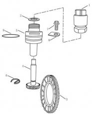 Привод спидометра [JL-S160]. Артикул: ck-334-34-040