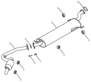 Глушитель [JL4G20/JL4G24]. Артикул: ex7-276-76-121