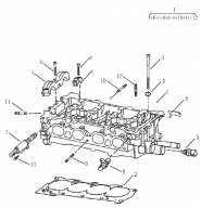 Головка блоку циліндрів (1.5L DVVT). Артикул: ec7-ch15