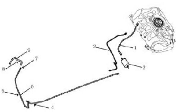 Паливний трубопровід [1.0L,4G15] Geely GC5 (SC5/SC5RV). Артикул: gc5-210-16-0100