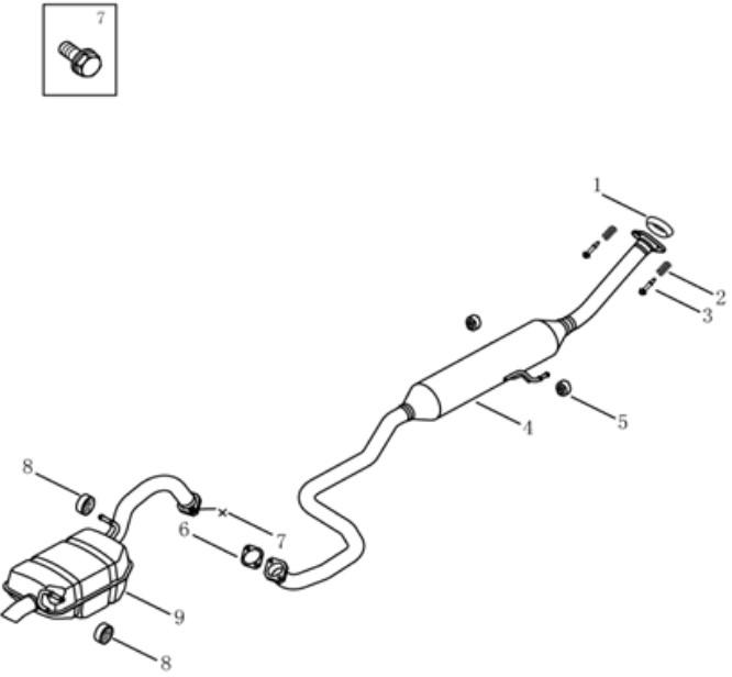 Глушитель [4G15] Geely GC5 (SC5/SC5RV). Артикул: gc5-276-76-0200