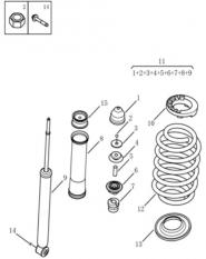 Задній амортизатор [2014 MODEL]. Артикул: gc5-420-20-200