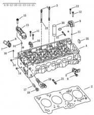 Головка блока цилиндров [MR479QN]. Артикул: gc6-116-18-092