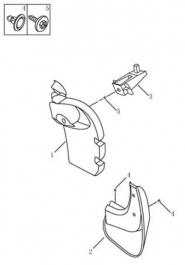 Направляющая заднего брызговика. Артикул: gc6-551-51-051