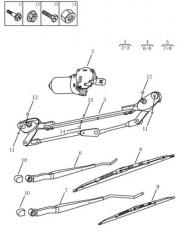 Передний стеклоочиститель [W/ FRAME,SUPPLIER CO]. Артикул: gc6-623-23-050