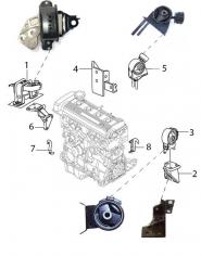 Опори двигуна та КПП. Артикул: geely-mk-1-18