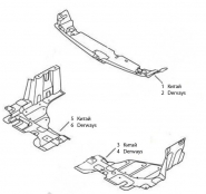 Защита моторного отсека. Артикул: geely-mk-5-12