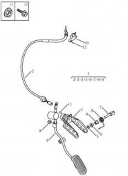 Педаль газа. Артикул: gmk-230-30-050