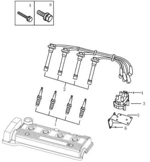 Система запалювання [EURO Ⅳ] Geely MK (LG-1). Артикул: gmk-250-50-041