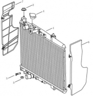 Радиатор [MT]. Артикул: gmk-280-80-050