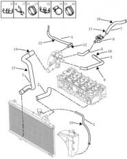 Трубопровід системи охолодження. Артикул: gmk-282-82-051