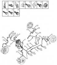 Трубопровод тормозной системы [ABS MK60]. Артикул: gmk-470-70-052