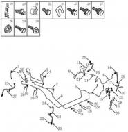 Трубопровод тормозной системы [без ABS]. Артикул: gmk-470-70-054