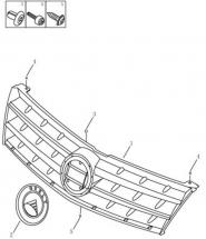 Решітка радіатора. Артикул: gmk2-610-12-060