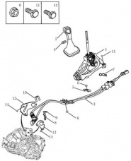 Ручное переключение передач. Артикул: gsl-338-38-080