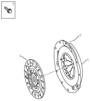 Зчеплення [JL-S160A] Geely MK (LG-1). Артикул: mk-310-10-041