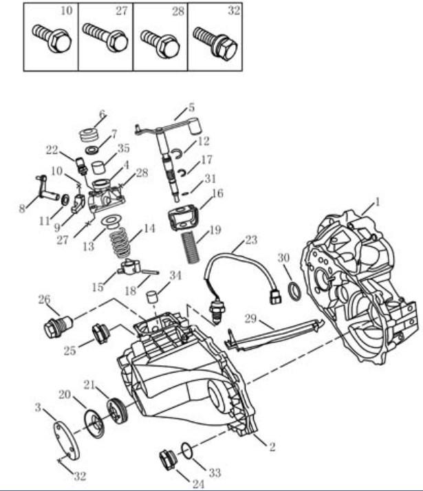Корпус трансмісії [JL-S160G] Geely MK (LG-1). Артикул: mk-320-24-042