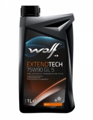 Масло трансмиссионное 75W-90 1L WOLF EXTENDTECH GL 5. Артикул: 75w-90