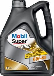 Масло моторное 5W-40 4L MOBIL SUPER 3000. Артикул: 5w-40
