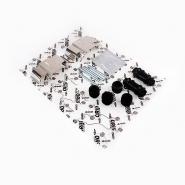 Ремкомплект суппорта заднего (пыльники + пластины + фиксаторы) ORIJI. Артикул: t11-3502050/t11-3502060